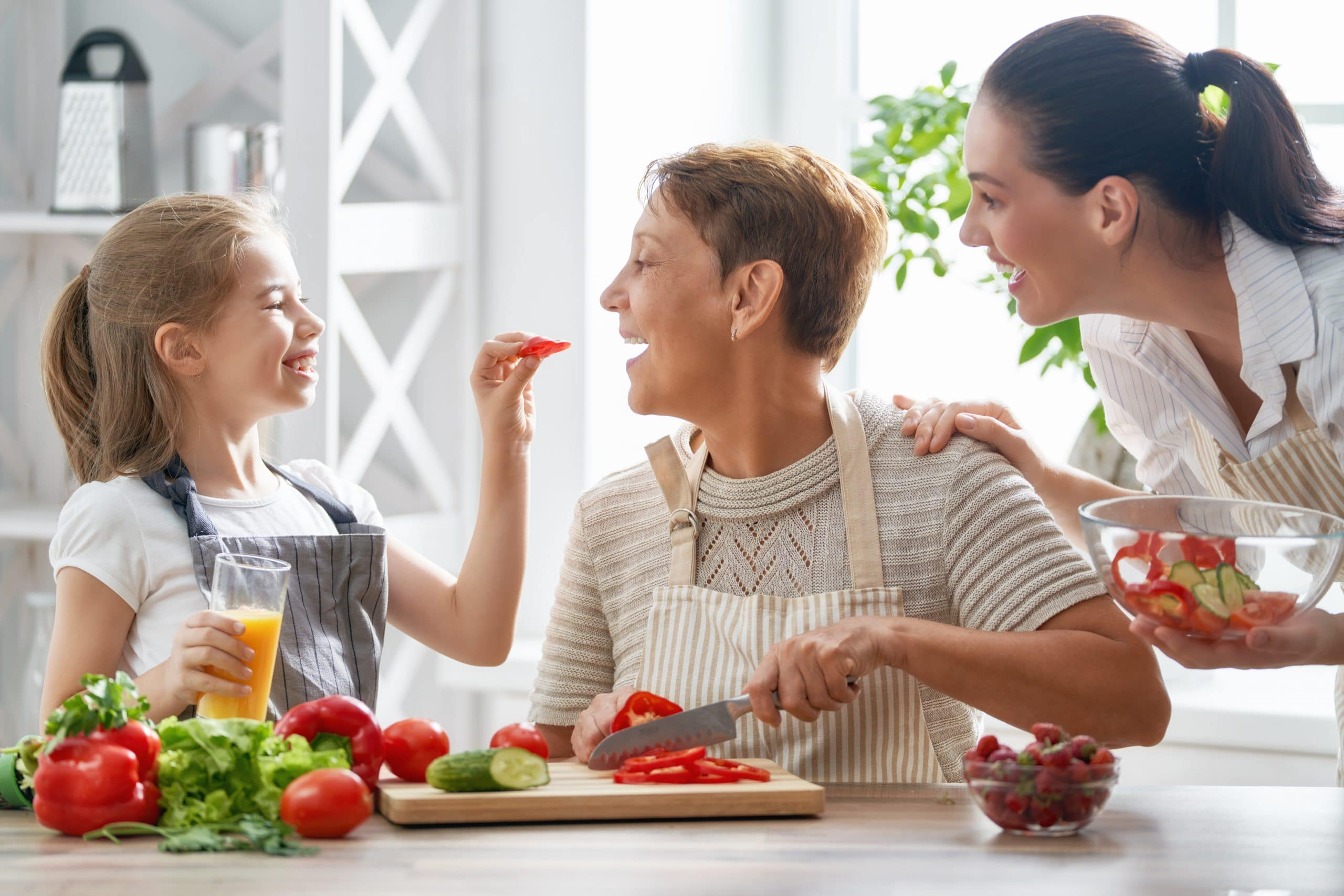 family eating healthy scaled