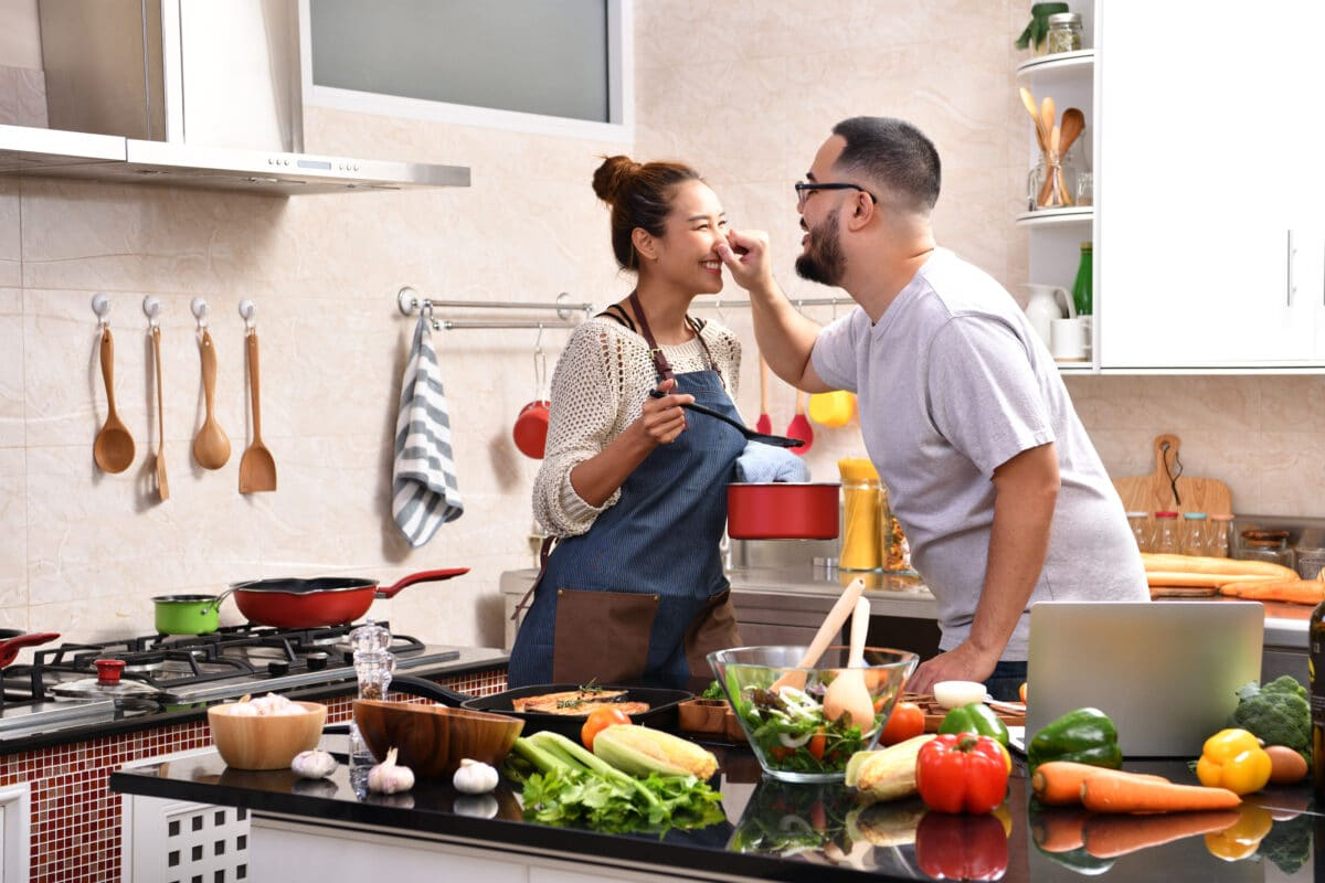 healthy cooking together